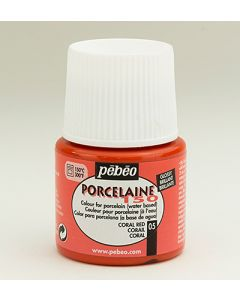 Pebeo porcelaine 150 - 05 coral red
