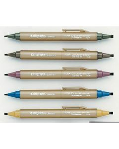 Itoya kalligrafiepen set earth tone colours