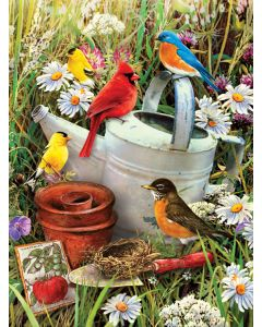 R&L painting by numbers - PJS71 3T garden birds