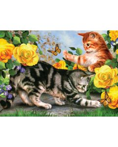 R&L painting by numbers - PJL48 Kitten play