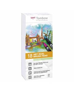 Tombow dual brush pen set 18 pastel