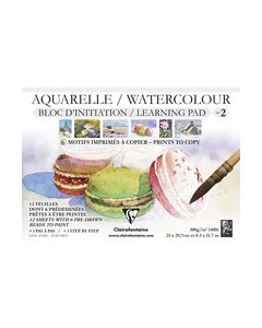 Clairfontaine watercolour learning pad no2
