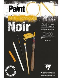 Clairfontaine Paint on noir A4 250gr