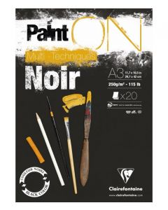 Clairfontaine Paint on noir A3 250gr
