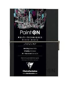 Clairfontaine Paint on mix media noir 250gr A5