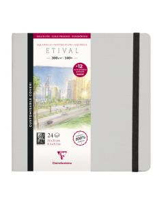 Clairfontaine Etival watercolour book 21x21 300gr