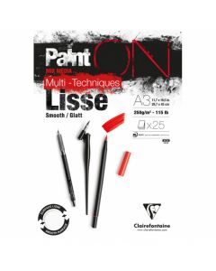 Clairfontaine Paint on - Lisse A3 250gr