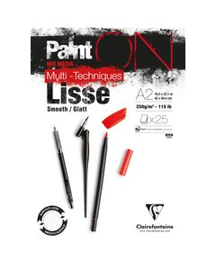 Clairfontaine Paint on - Lisse A2 250gr