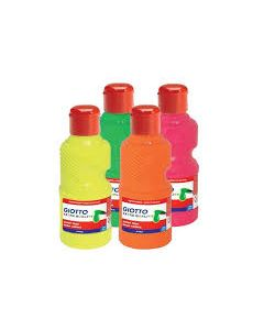 Giotto plakkaatverf 250ml set 4 Neon