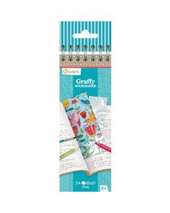 Graffy bookmarks, Mandala - Bloemen