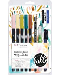 Tombow dual brush pen - blended lettering set cosy times