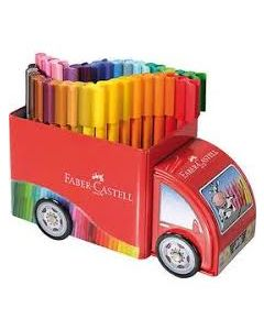 Faber-Castell connector viltstiften 33 stuks in auto