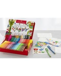 Faber Castell Colouring for Relaxation 60 connector stiften + 10 kleurkaarten