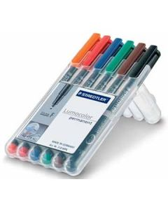 Staedtler lumocolor set F assorti 6