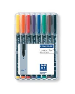 Staedtler lumocolor set F assorti 8