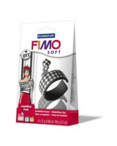 Fimo soft jewellery pack zwart/wit - OUDERE VERPAKKING
