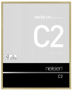 Wissellijst Nielsen C2 40x50 - brushed frosted gold