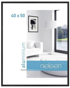 Wissellijst Nielsen 40x50 brushed black matt