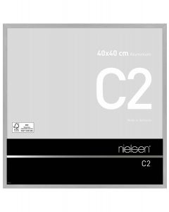 Wissellijst Nielsen C2 40x40 - soft frosted silver