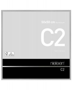 Wissellijst Nielsen C2 50x50 - brushed frosted silver