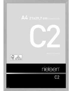 Wissellijst Nielsen C2 A4 - brushed frosted silver