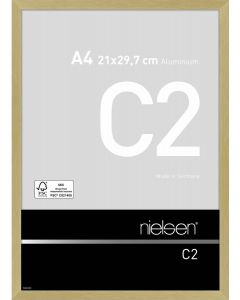 Wissellijst Nielsen C2 A4 - brushed frosted gold