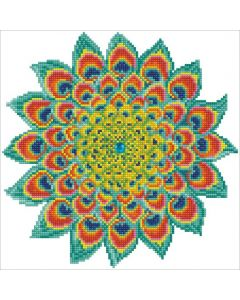 Diamond Dotz - DD5.060 peacock mandala 32x32