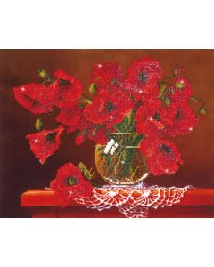 Diamond Dotz - DD9.002 red poppies 50.8x40.6