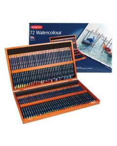 Derwent watercolour set 72 houten box