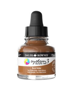 DalerRowney System3 acrylic ink 223 Burnt Umber, 29,5ml