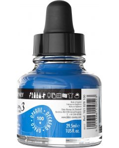DalerRowney System3 acrylic ink 100 Fluorescent Blue, 29,5ml