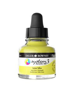DalerRowney System3 acrylic ink 651 Lemon Yellow, 29,5ml