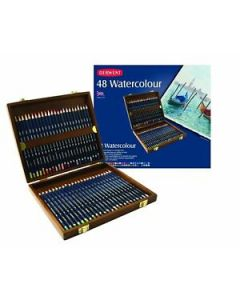 Derwent Watercolour set 48 houten box