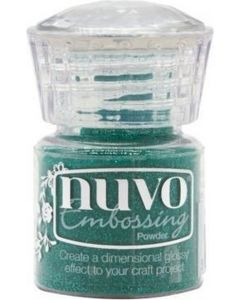 Nuvo embossing powder - glimmering green