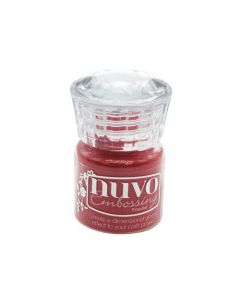 Nuvo embossing powder - sportscar red