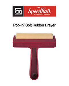 Speedball Pop-In Soft Rubber Brayer 10 cm