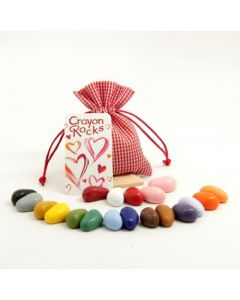 Crayon rocks 20 - heart bag