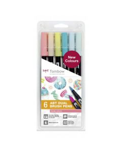 Tombow dual brush pen set 6 candy