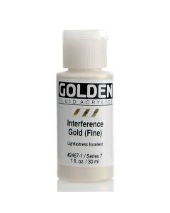 Golden fluid acrylics 30ml - 2467 interference gold (fine)