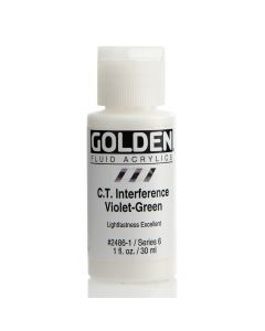 Golden fluid acrylics 30ml - 2486 c.t. interference violet green