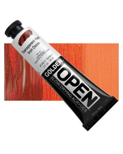 Golden open acryl 60ml - 7385 transparant red iron oxide