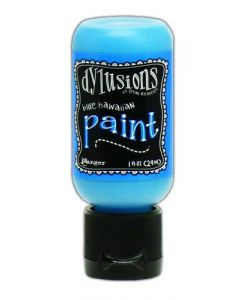 Ranger dylusions paint flip cap bottle 29ml - blue hawaiian