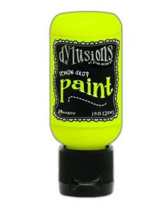 Ranger dylusions paint flip cap bottle 29ml - lemon drop