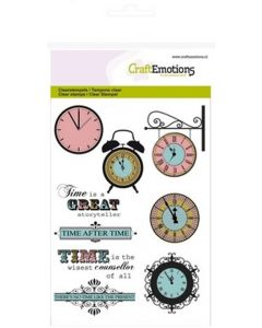 Craft Emotions clearstamps clocks