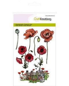 Craft Emotions clearstamps papaver
