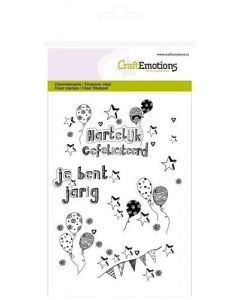 Craft Emotions clearstamps ballonnen handlettering