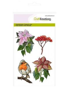 Craft Emotions clearstamps poinsettia