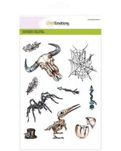 Craft Emotions clearstamps weird science