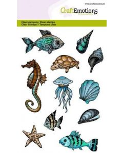 Craft Emotions clearstamps sea animals