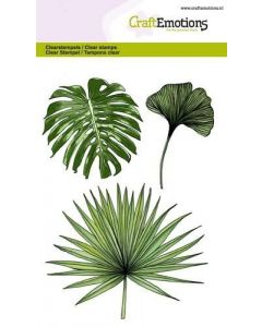 Craft Emotions clearstamps tropical leafs